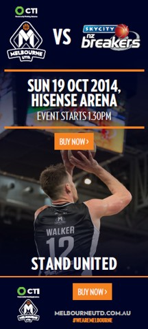 CTI Melbourne United vs SkyCity NZ Breakers