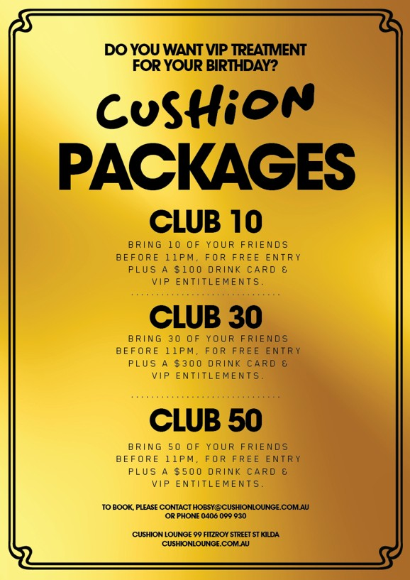 Do you want VIP treatment for your birthday?