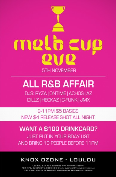 Melb Cup Eve