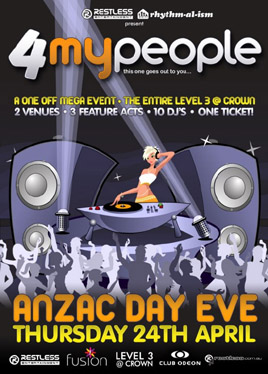 All My People ANZAC Day Eve poster