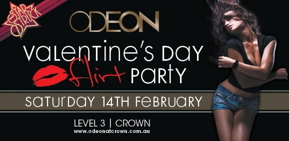 Star Struck  ODEON  Valentine's Day Flirt Party  Saturday 14th February  LEVEL 3 | CROWN www.odeonatcrown.com.au