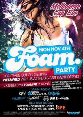 Cup Eve Foam Party
