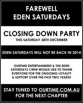 Eden Saturdays @ Eden